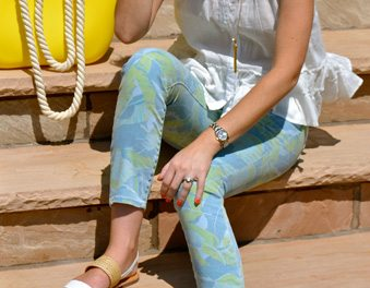 A Printed Denim Garden Party…