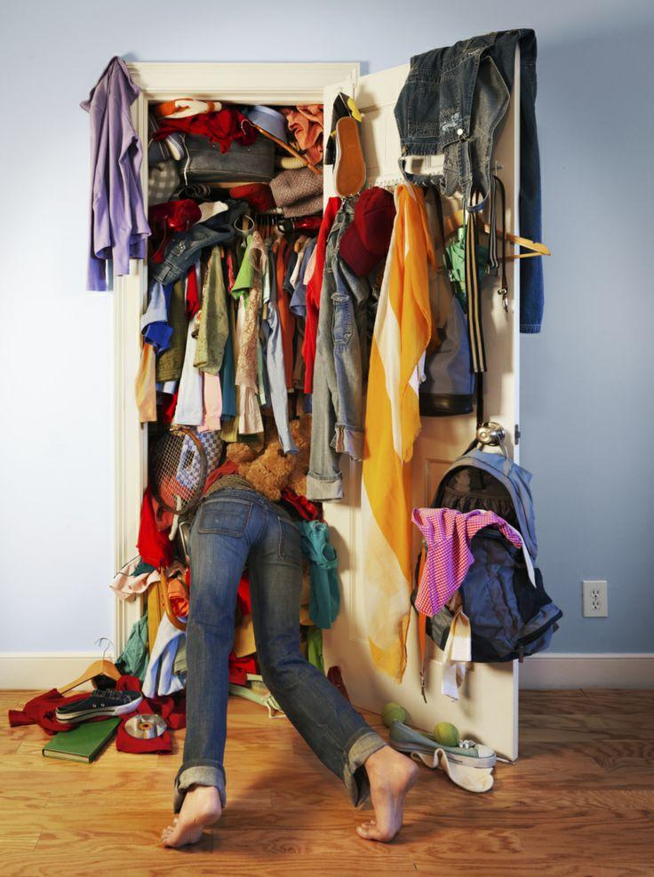closet mess